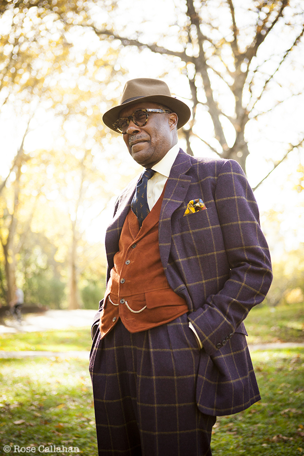 Dr. Andre Churchwell photographed by Rose Callahan in NYC on Dec 20, 2012