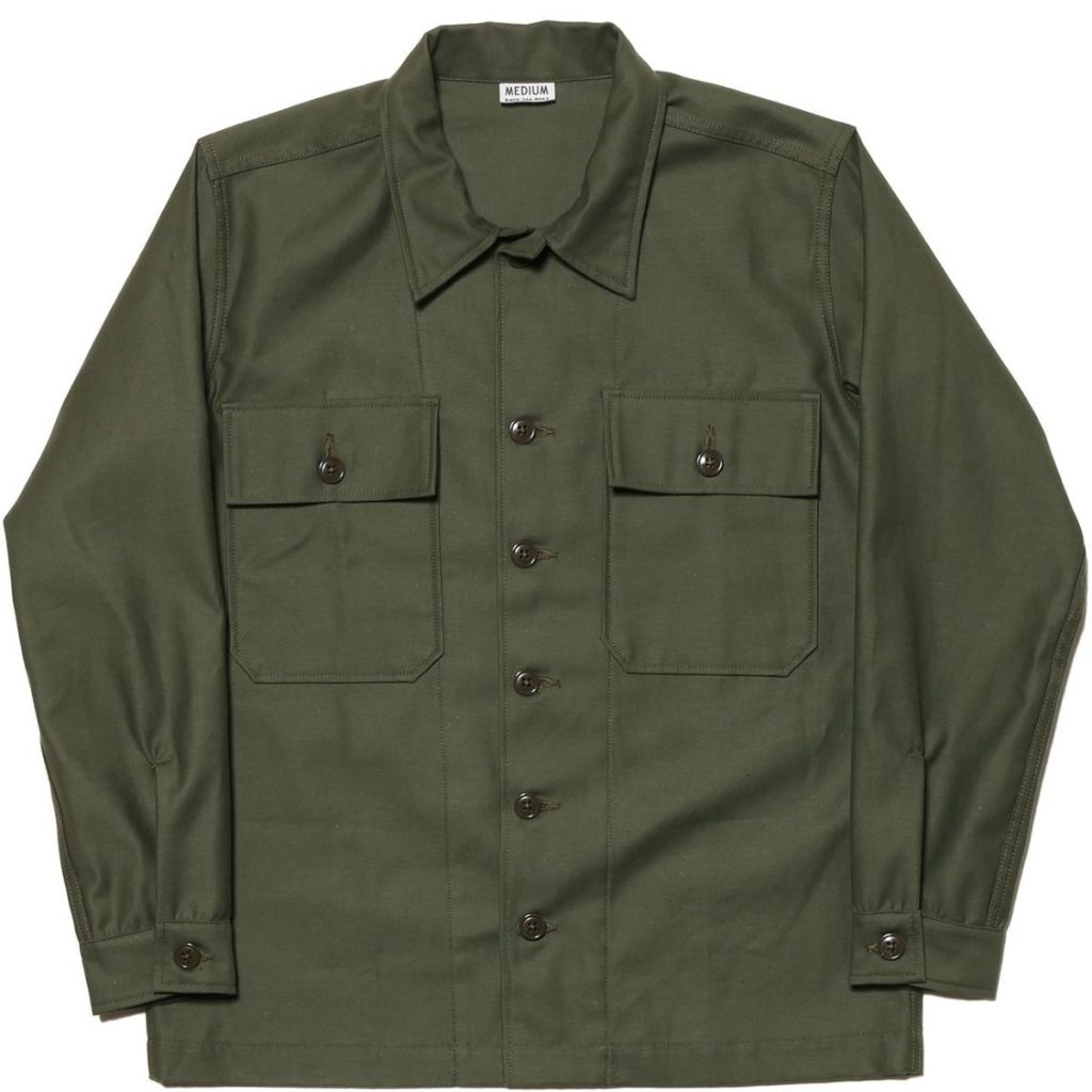 The Real McCoy's Cotton Sateen Utility Shirt Jacket
