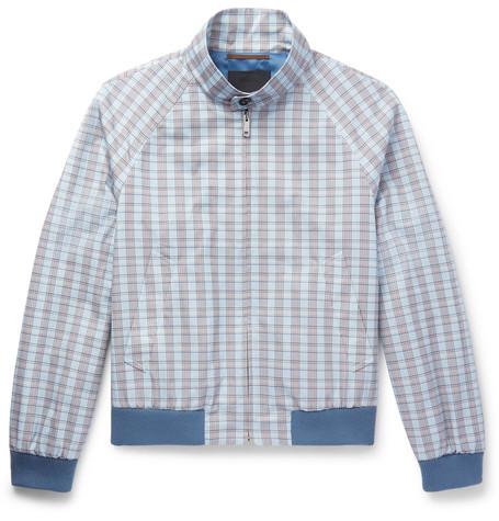 Prada Checked Cotton Blouson Jacket