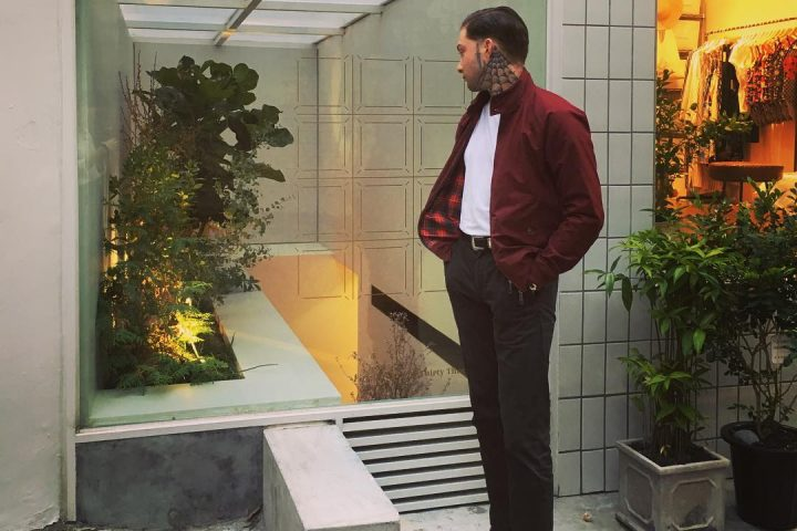 Daniel Snoeks @dshewaspretty in Red Harrington and Chocolate Corduroy Trousers | The Best Men's Outfits of the week
