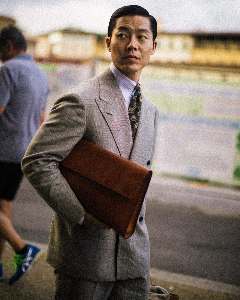 Joe Ha of The Finery Company at Pitti Uomo 94 in B&Tailor | Photo by @the_kyu via The Finery Company
