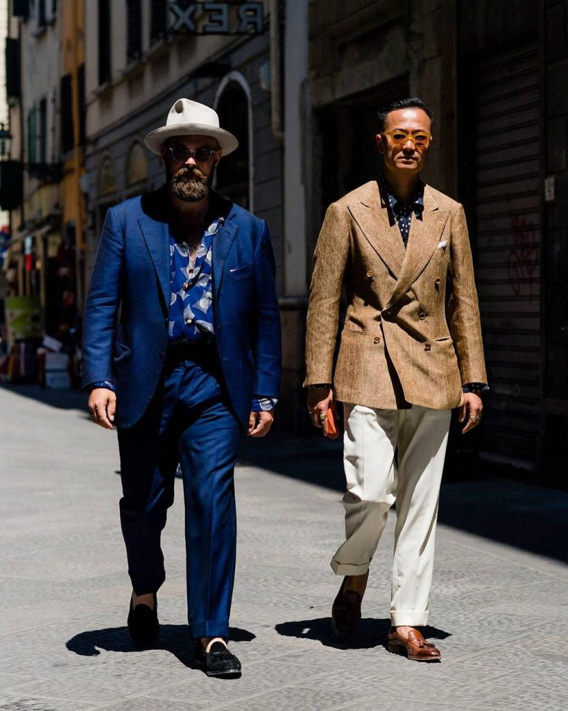 Ethan Newton (left) and Kenji Cheung (right) of Bryceland's and Co at Pitti Uomo 94 | Photo by Robert Spangle @thousandyardstyle