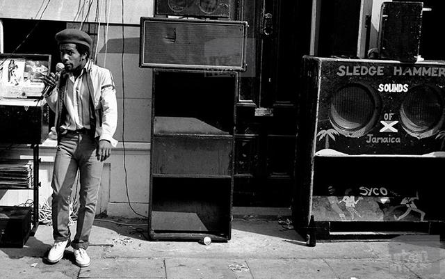 M.C. raps on impromptu sound system. Year Unknown. (Photo via. blog.dubspot.com)
