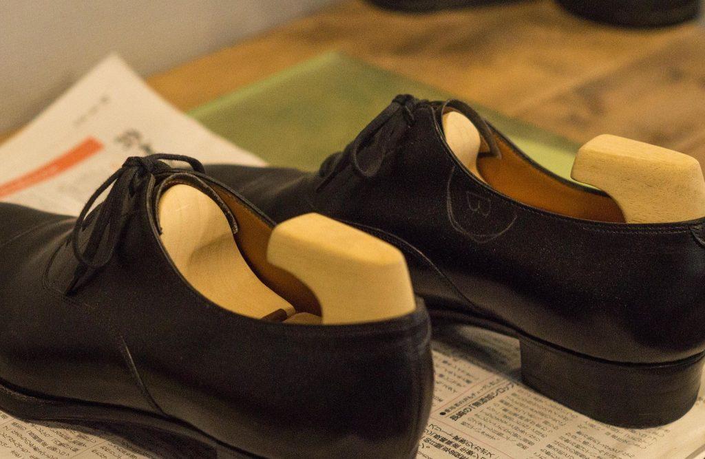 Yohei Fukuda Black Captoe Oxfords