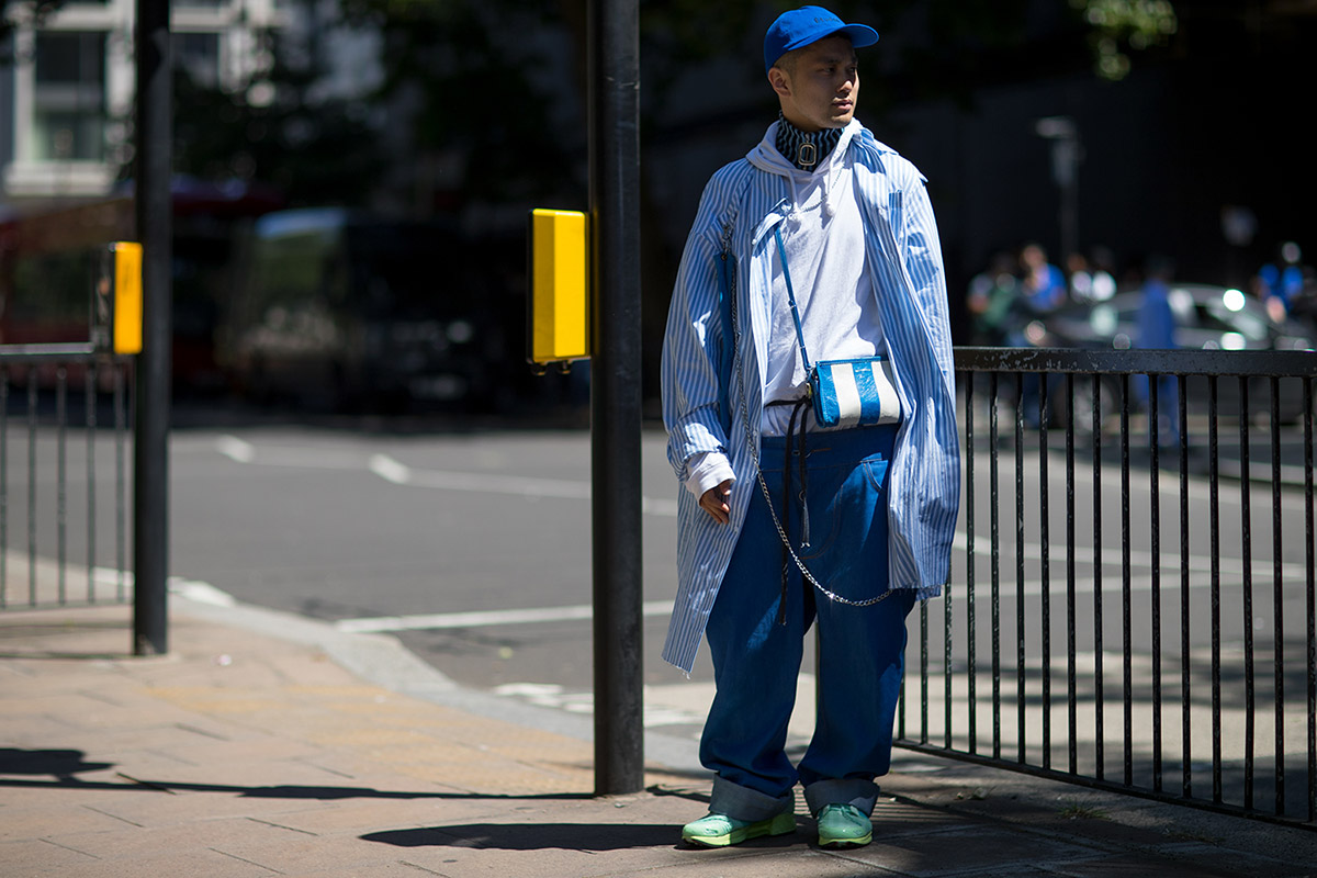 London Fashion Week Men's S/S 2019 Disproportioned Outfit