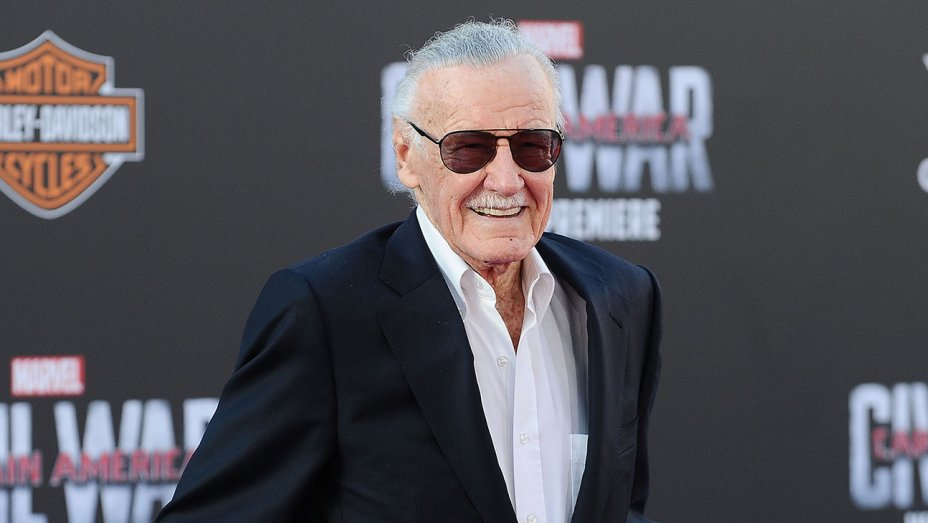 Stan Lee Black Suit White Shirt
